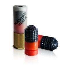 Kaviar frangible shotgun slug - ideal for training on steel targets and tactical operations where limited penetration is necessary. Weapons Guns, Guns And Ammo, Survival Weapons, Shotgun Slug, Combat Shotgun, Steel Targets, Hunting Rifles, Firearms, Shotguns