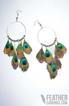 Fab! Natural Peacock Feather Earrings $24.99 Feather Earrings, Drop Earrings, Peacock, My Style, Etsy, Accessories, Jewelry, Natural, Clothes