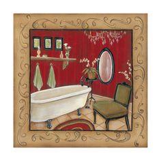red bathroom tub KIM LEWIS