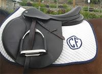 Monogrammed saddle pad