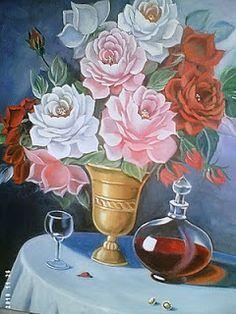 Solange Gama Coelho: Pintura em Tela,Tecido,Cursos-9196-6422(Claro),9854-3743(Tim)-Curitiba: Pintura em Tela Flores