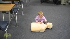 Babies learn from you every second This little one picked up on how to do CPR!...smarty pants!