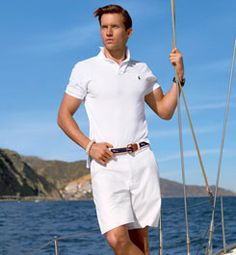100% white, the perfect New England Sailing ensemble - Ralph Lauren Style Guide