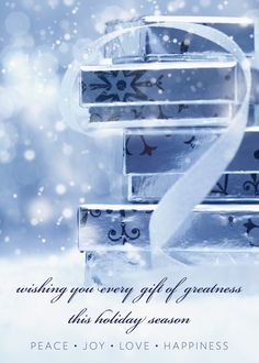 Gift Of Greatness Peace, Joy, Love Holiday Card - Discount Greeting Cards
