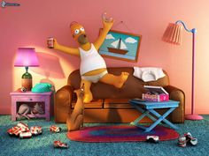 The Simpsons Photography Wallpaper Free By Coulter Round. Jonathan Flynn · Simpsons  Living Room
