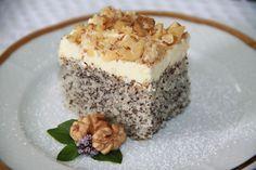 Makový koláč s krémom Eastern European Recipes, Taste Of Home, Tiramisu, Food And Drink, Pudding, Sweets, Baking, Cake, Ethnic Recipes
