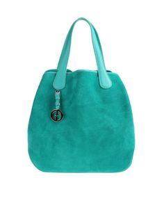 dbe8b0fcf8 Giorgio Armani Large Leather Bag in Green (turquoise) - Lyst