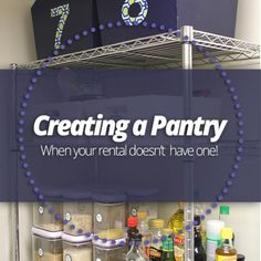 a Pantry (when your rental doesn't have one!) Tips If you don't have a built-in in your kitchen apartment, here's a simple way to create one!If you don't have a built-in in your kitchen apartment, here's a simple way to create one! Apartment Kitchen, Apartment Living, Kitchen Interior, Apartment Ideas, Pantry Organization, Pantry Ideas, Organizing, Pantry Diy, Small Pantry
