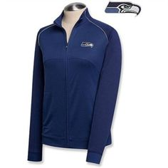 Antigua Chicago Bears Women's Sleet Microfleece Full Zip Pullover Sweatshirt - Navy Blue