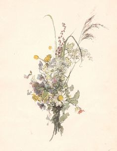 Bouquet (1892/1893) by Carl Larsson (1853–1919).