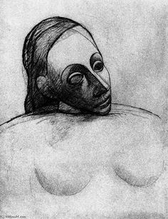 PABLO-PICASSO-BUST-OF-A-WOMAN.JPG (497×650)