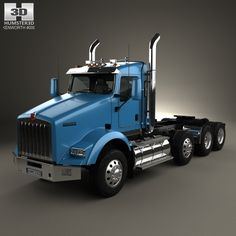 Kenworth T800 Chassis Truck 4axle 2005 3d model from humster3d.com. Price: $75
