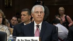 President-elect Trump's nominee for secretary of state, former ExxonMobil CEO Rex Tillerson, is under scrutiny Wednesday over his ties to Russia. Rex Tillerson, Global News, Secretary, Russia, Presidents, Politics, Fictional Characters, Image, Fantasy Characters