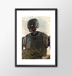 Rogue One K2so - Star wars inspired Print - BUY 2 Get 1 FREE by ShamanAlternative on Etsy