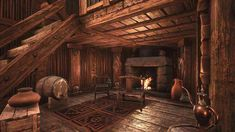 Post with 17 votes and 3992 views. Shared by falloutforeman. Home Sweet Home Casa Viking, Viking House, Medieval World, Medieval Town, Conan Exiles, Viking Village, Environment Concept Art, Farmhouse Kitchen Decor, Building Design