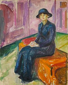 1913-15 Seated on a Suitcase oil on canvas 151 x 120 cm Munch Museum, Oslo