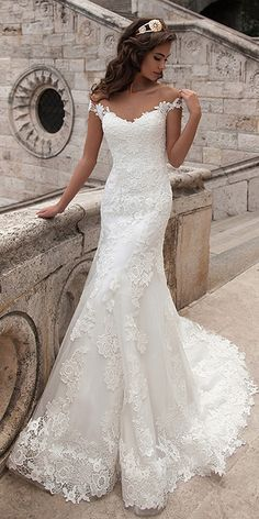 233.50  Exquisite Tulle Bateau Neckline Mermaid Wedding Dress with Lace  Appliques - magbridal.co c33911b2a8ae