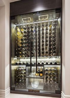 All Glass Wine Cellar Modern Wine Cellar Vancouver