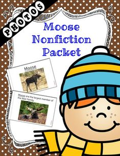 A non-fiction unit packed with Moose information and real photos.  Perfect for the Autism/ESE class.  The packet contains realistic photographs for better understanding of the images.  Generalization can be easier when images are realistic.The packet contains the following:Level 1 Book  A book with an easier reading level and the key word for the packet is underlined throughout.