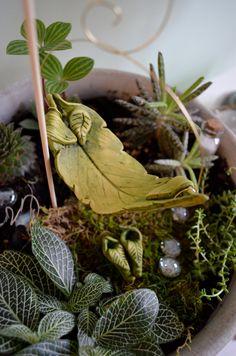 Miniature Fairy Hammock, Fairy Swing, Fairy Bed. $14.50, via Etsy.