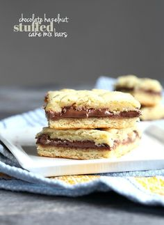 These Chocolate Hazelnut Cake Mix Bars from Cookies and Cups are ridiculously easy and perfect for any celebration in your life