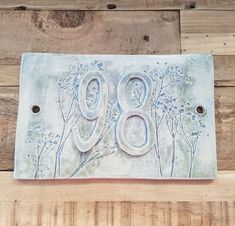 House Plaques, Name Plaques, Clay Houses, Ceramic Houses, Stoneware Clay, Ceramic Clay, Diy Signs, Home Signs, Ceramic House Numbers