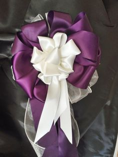 Beautiful+Dark+Purple+And+Ivory+Satin+And+Sheer+by+AsPrettyDoes,+$11.50