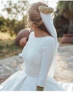 Modest Wedding Dresses Satin Ball Gowns With Sleeves Wedding Gown satin ball gown wedding dress Wedding Dress Train, Wedding Dress Sleeves, Long Wedding Dresses, Long Sleeve Wedding, Gowns With Sleeves, Gown Wedding, Lace Wedding, Simple Wedding Dress With Sleeves, Dream Wedding