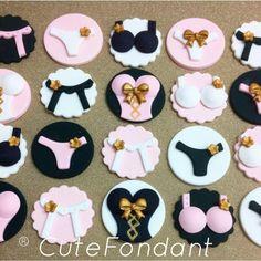 Fondant Cupcakes, Fondant Cupcake Toppers, Cupcake Cakes, Lingerie Cupcakes, Lingerie Cake, Lingerie Party, Sexy Lingerie, Bachlorette Cakes, Bachelorette Cupcakes