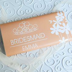 I Just Love It Personalised Bridesmaid Chocolate Bar Personalised Bridesmaid Chocolate Bar - Gift Details. For your bridesmaids who enjoy the sweeter things in life our Personalised Bridesmaid Chocolate Bars will make brilliant thank you gifts. Each cl http://www.MightGet.com/january-2017-11/i-just-love-it-personalised-bridesmaid-chocolate-bar.asp