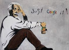 """""""If we knew what it was we were doing, it would not be called research, would it?""""  — Albert Einstein // street art"""