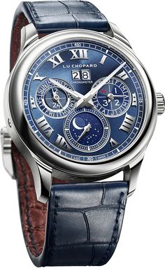 PuristSPro - Perpetual Moonlight on Platinum As a pre-Baselworld 2017 trade show tease, I am pleased to reveal the new flagship model of L.C Lunar One in a Amazing Watches, Beautiful Watches, Cool Watches, Watch Master, Mens Fashion Wear, Men's Fashion, Chopard, Fine Watches, Luxury Watches For Men