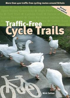 Traffic-free Cycle Trails: More Than 400 Traffic-free Cycling Routes Around Britain Another great cycling guide from the pen of the very experienced Nick Cotton, gives all the info you need for finding a safe and peaceful bike ride. More than 400 rides on canal towpaths, railway paths, forests, etc., all 'traffic-free', scattered throughout the regions of mainland Britain. Regional maps show location of the rides, and there are colour photos of some routes.Featur