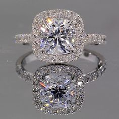 Park Avenue Halo Engagement Ring...holy gorgeous!