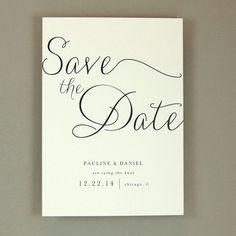 Pauline Suite - Modern Elegant Wedding Save the Date / Announcement - Classic Elegant Invite - Customizable Wedding Stationery - Sample: