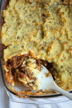 jadłonomia · roślinne przepisy: Wegetariański Shepherd's Pie