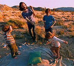 Jim Morrison dancing with kids in HWY: An American Pastoral, 1969.