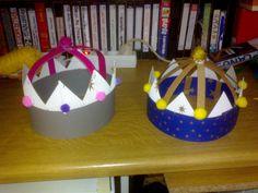 Ορίστε και 3 πατρόν για στέμμα βασίλισσας και βασιλιά για τις αναγνώστριες και φίλες, Φωτεινή και Μαρία! Απλό στέμμα…