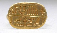 Signet ring of a priest of Horus[...] Ankhwennefer  Period: Late Period Dynasty: Dynasty 26–29 Date: 664–332 B.C. Geography: Egypt Medium: Gold