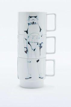 Lot de tasses à motifs empilables Star Wars