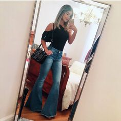 I can't help it I love the pants ♡♡♡♡ Fall Winter Outfits, Spring Outfits, Trendy Outfits, Cute Outfits, Fashion Outfits, Country Winter Outfits, Fashion Clothes, Fall Fashion, Cowgirl Outfits