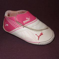 One (1) Right Foot Baby Girl's Puma Shoe Amputee/Replace Size 4 Pink White  #Puma #CasualShoes