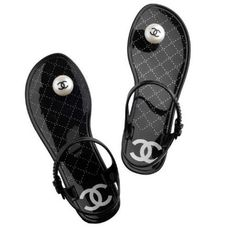 Chanel Diamante Jelly Sandals