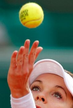 d13a625dd1 Poland's Agnieszka Radwanska serves the ball to France's Caroline Garcia  during their second round match of the French Open tennis tournament at the  Roland ...