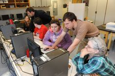 """Students at Frontier Regional School learn how to use online tools  in the """"cloud"""" to work on projects.  Recorder/Paul Franz"""