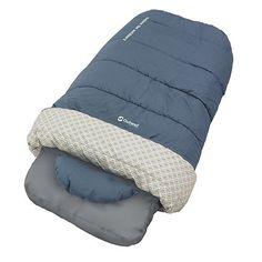 Thermomatten Caress Single    Einfach genial: Der Outwell Caress Single Schlafsacksystem ist eine komfortable und praktische Lösung für den Campingurlaub. Bett, Laken und Decke sind miteinander verbunden. Die wärmende Decke aus Isofill-3D-Hohlfasern und der Bezug mit integrierter Kissentasche sind weitere Extras des Luftbettes. Der Clou: Zwei Lagen aus synthetischem Isoliermaterial werden so ge...