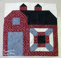 Quilty Barn Along at Freemotion by the River block 1