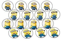 Minion Template Printable | cake decorating despicable me edible picture cupcake toppers