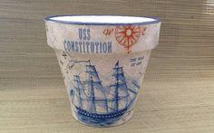 Sailing Ship and Vintage Nautical Sailing Map by SummerBirdDesign