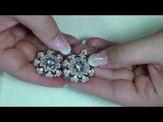 TUTORIAL PERLINE [45] - Orecchini Tajda, rivoli 14mm Es-o e O-beads - YouTube